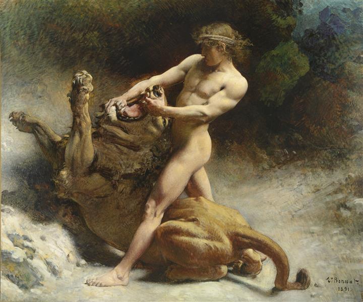 Samson's Youth, 1891 - Leon Bonnat