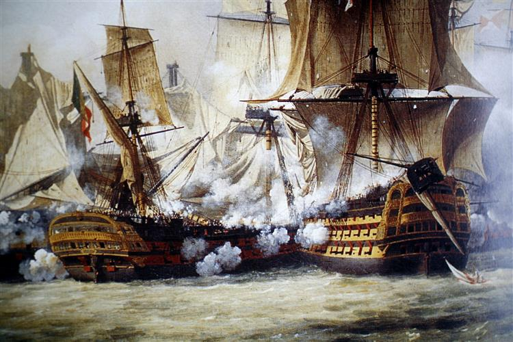 Scene of the Battle of Trafalgar, 1807 - Louis-Philippe Crépin