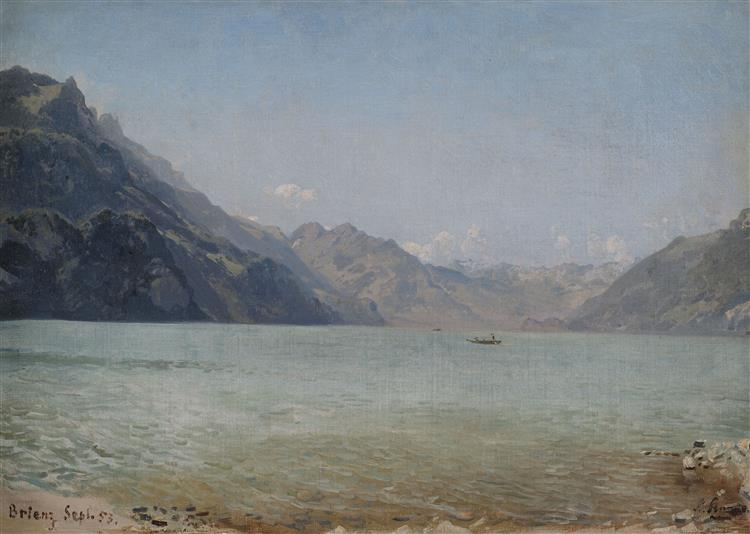 Am Brienzer See, 1853 - Людвиг Кнаус
