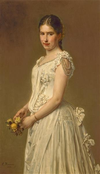 Porträt Der Tochter Des Künstlers, Johanna Knaus, 1888 - Ludwig Knaus