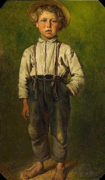 Portrait of a Boy - Ludwig Knaus