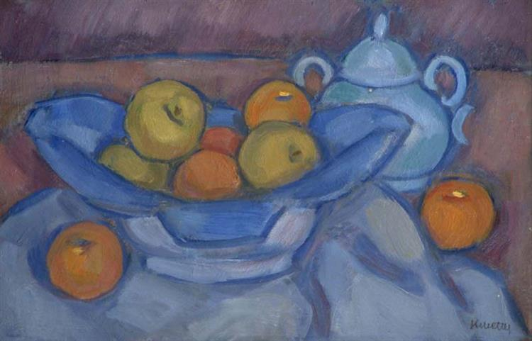 Fruits in Blue Bowl, 1927 - Kmetty János