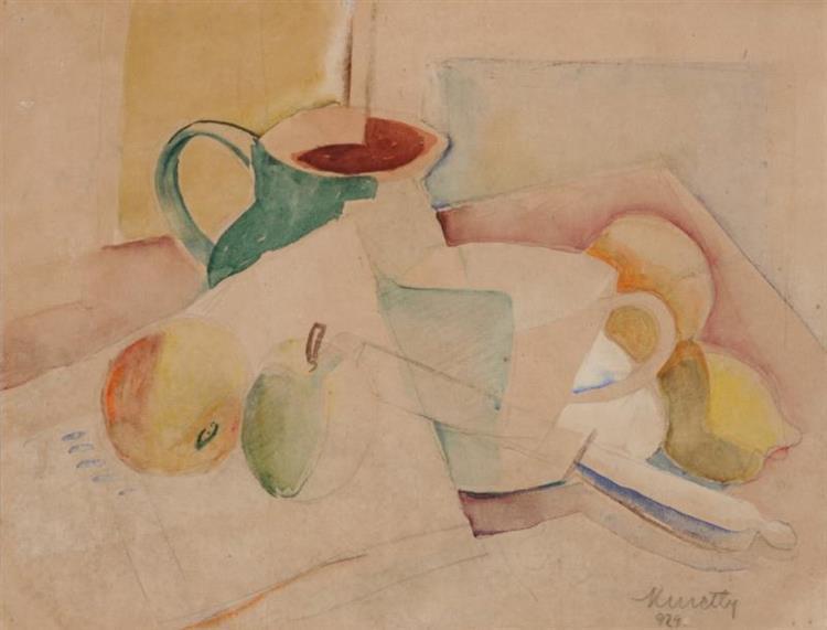 Still Life with Jug, 1929 - Kmetty János
