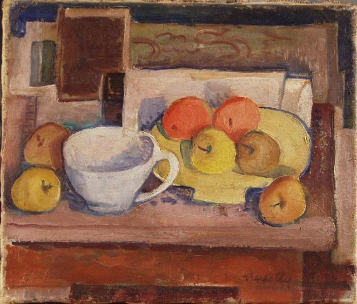 Still Life with Yellow Plate, c.1928 - Kmetty János