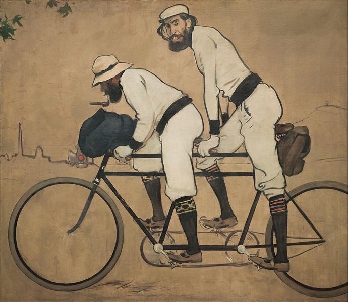 Ramon Casas and Pere Romeu on a Tandem, 1897 - Ramon Casas