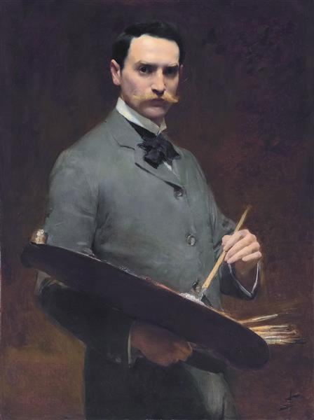 Self Portrait, by Solomon Joseph Solomon - Solomon Joseph Solomon