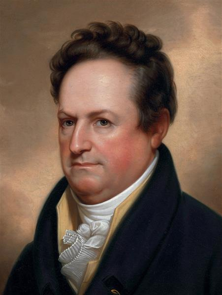 Portrait of Dewitt Clinton, 1812 - Рембрандт Пил