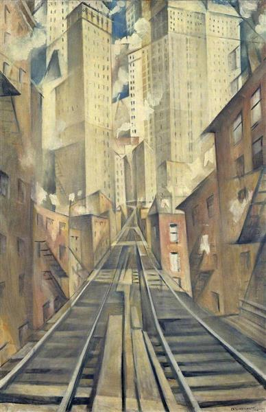 The Soul of the Soulless City ('New York   An Abstraction'), 1920 - C. R. W. Nevinson