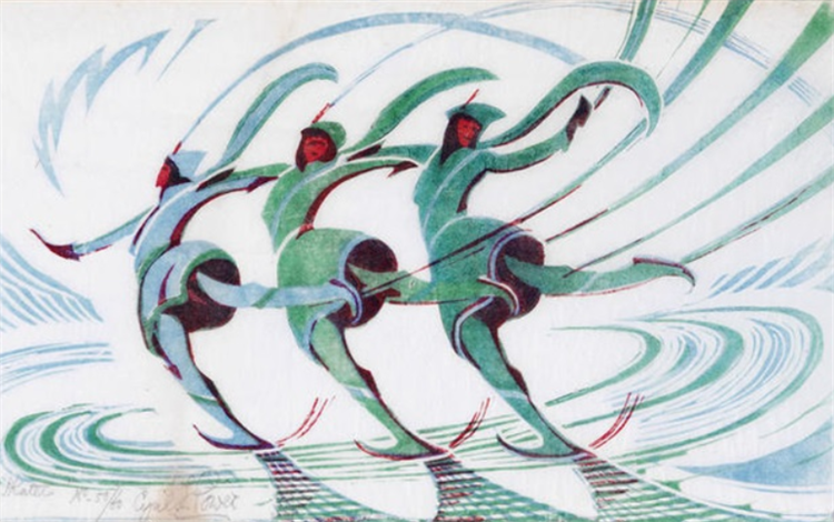 Skaters, c.1932 - Cyril Power
