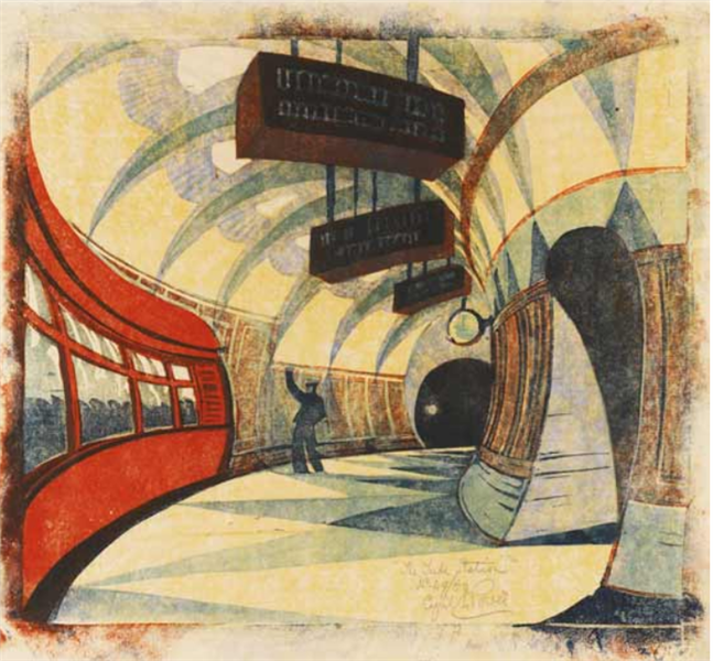 The Tube Station, 1935 - Cyril Power