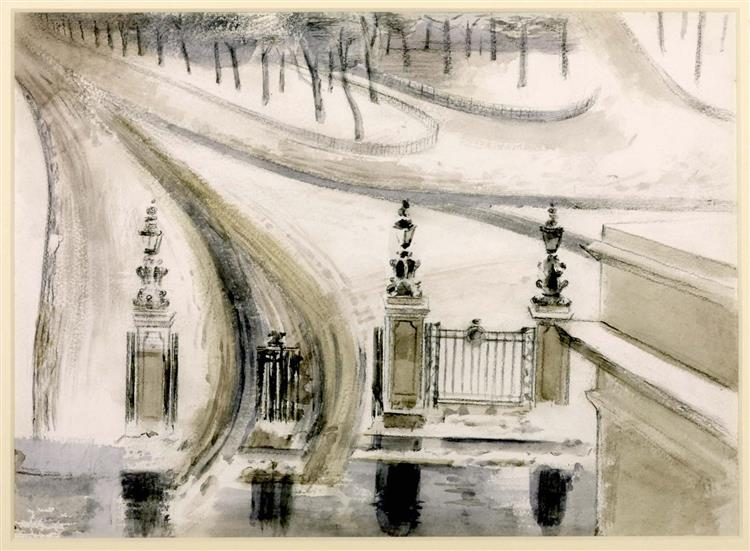 London. Winter Scene, No. 2, 1940 - Paul Nash