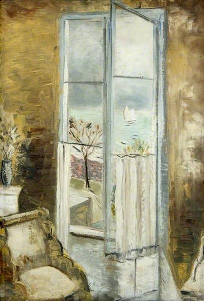 Through a Window, Riviera, 1927 - Paul Nash
