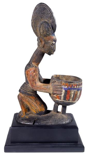 Yoruba Ceremonial Bowl with Female Figure - Olowe of Ise