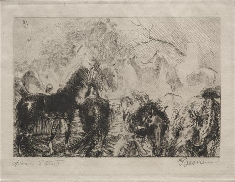 Horse Market in Algiers, 1925 - Paul-Albert Besnard