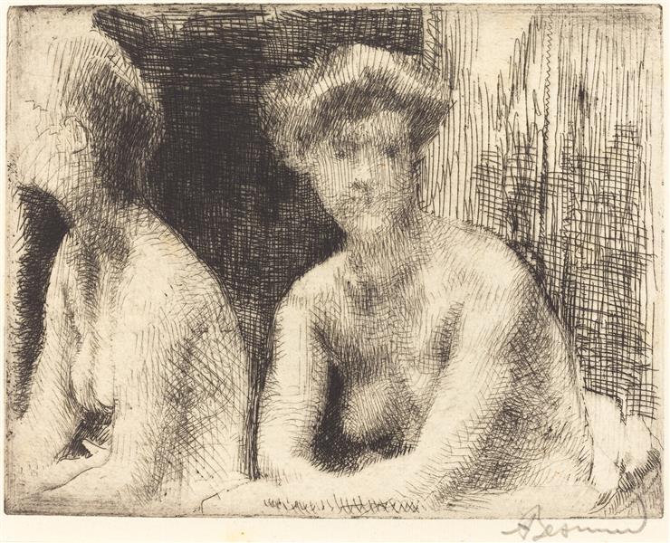 Nude Woman by a Looking Glass, 1889 - Paul-Albert Besnard