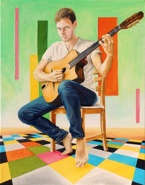 The guitar player - Hugues Folloppe