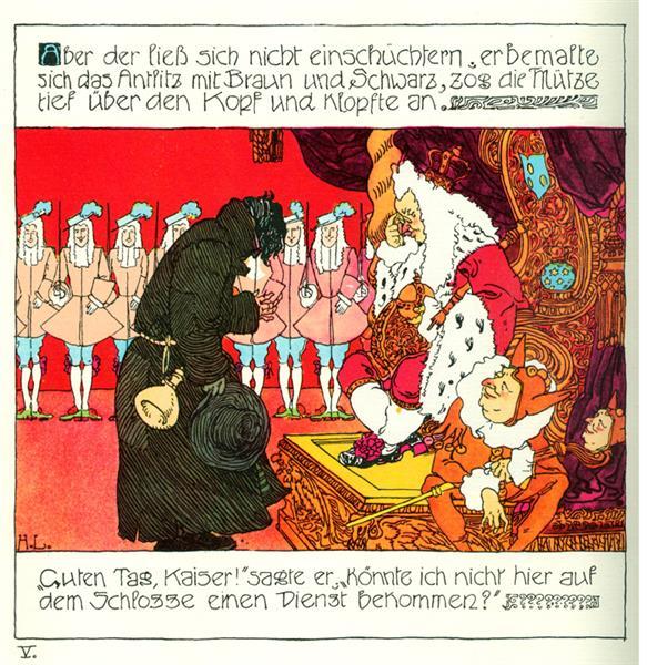 Die Prinzessin Und Der Schweinehirt 5, c.1897 - Heinrich Lefler