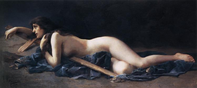 Penitent Magdalene, c.1890 - Francesc Masriera