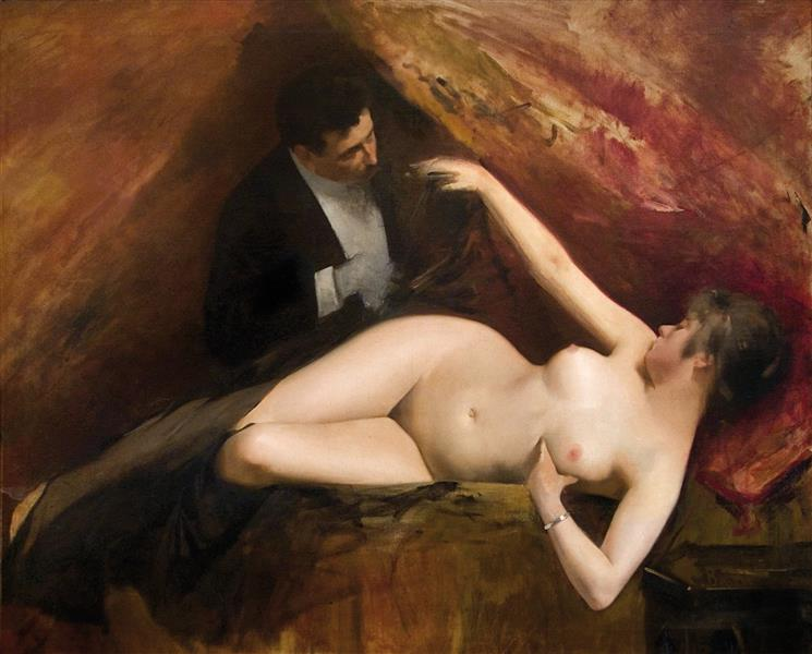 A La Llotja, c.1904 - Joan Brull