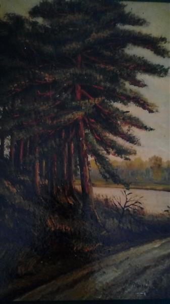 Tree at a Track, 1911 - Адольф Гітлер