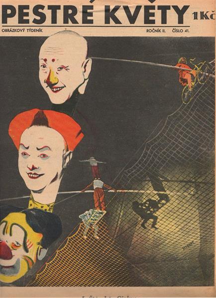 Cirkus (Cover of Pestré Květy Magazine) - Jindrich Styrsky