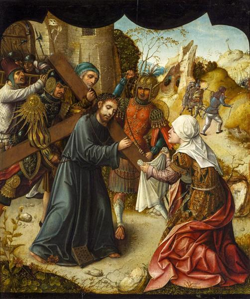 Bearing of the Cross with St. Veronica, c.1510 - Lucas van Leyden