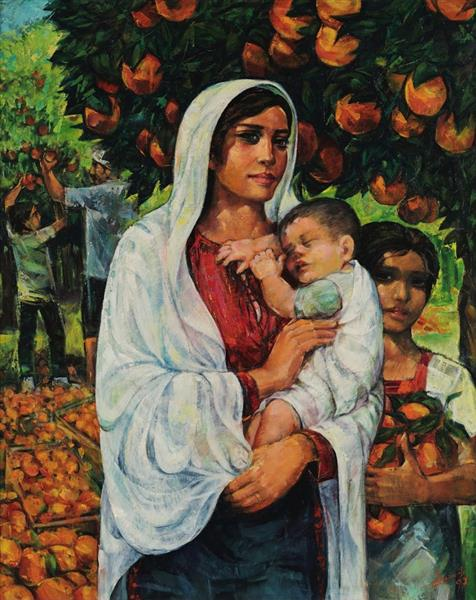 Madonna of the oranges, 1997 - Ismail Shammout