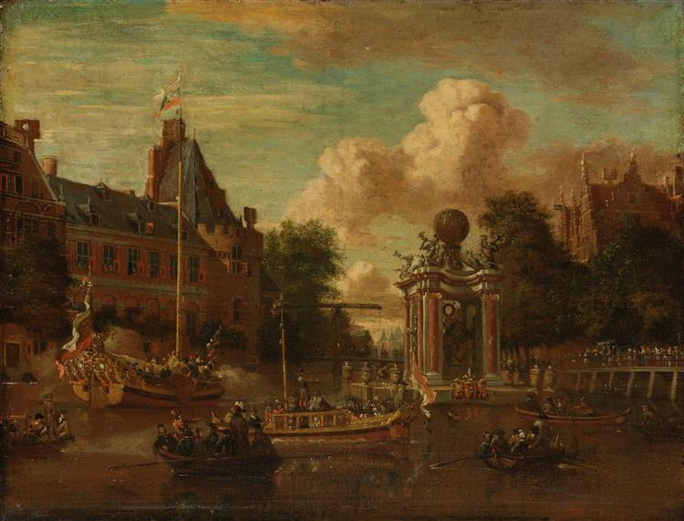 The Arrival of the Russian Embassy in Amsterdam, 29 August 1697, 1697 - Abraham Storck