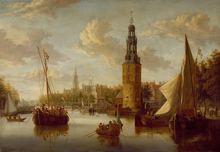 Embarkation of Soldiers near the Montelbaanstoren - Abraham Storck