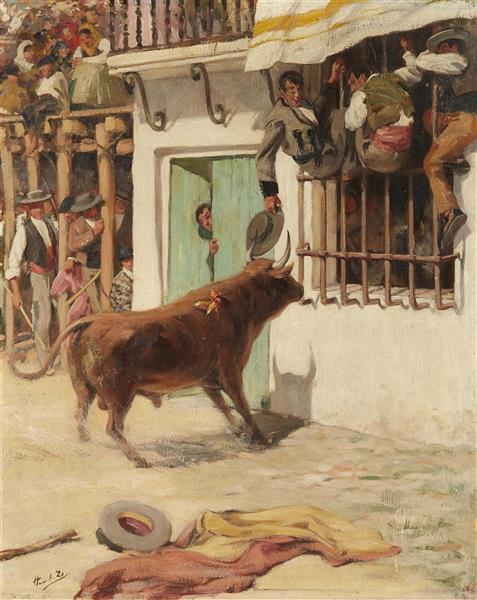 Bullfight Scene - Jean-Baptiste Achille Zo