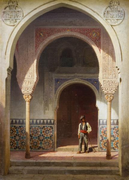 Patio À L'alhambra, 1860 - Achille Zo