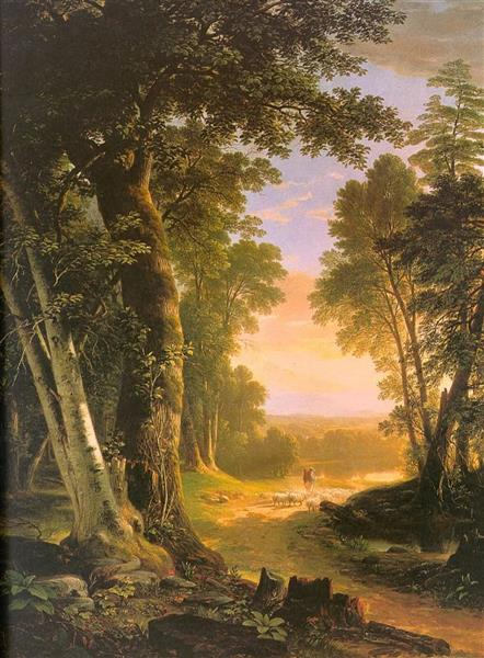 The Beeches, 1845 - Asher Brown Durand