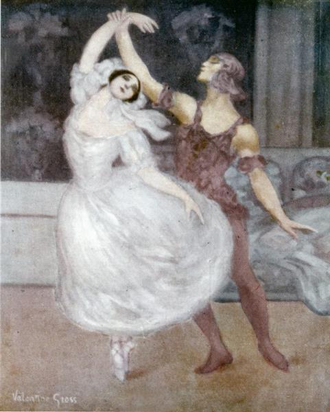 Vaslav Nijinsky Et Tamara Karsavina Dans « Spectre De La Rose » De Carl Maria Von Weber, c.1913 - Valentine Hugo