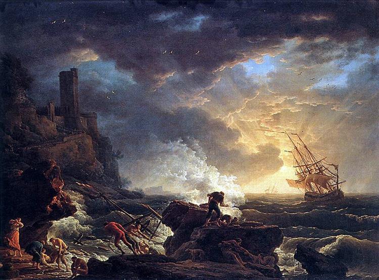 Shipwreck, 1759 - Claude-Joseph Vernet