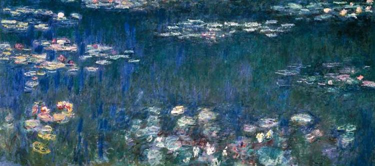 Water Lilies, Green Harmony, c.1914 - Claude Monet