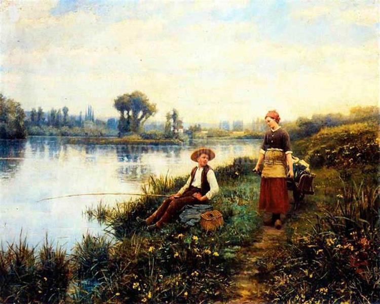 A Passing Conversation - Daniel Ridgway Knight