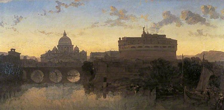 Rome, St Peters and the Castel St. Angelo - David Roberts