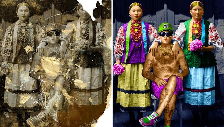 ДІВКИ І ПАРУБОК (диптих), 2015 - 2016 - Арт-тандем БМ Бабак-Матвєєв