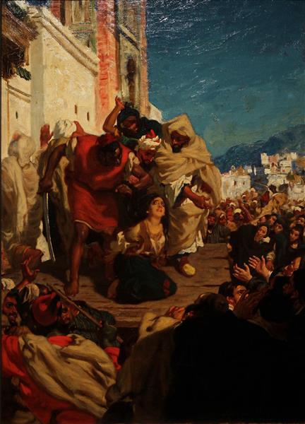 L'exécution De La Juive,, c.1860 - Alfred Dehodencq