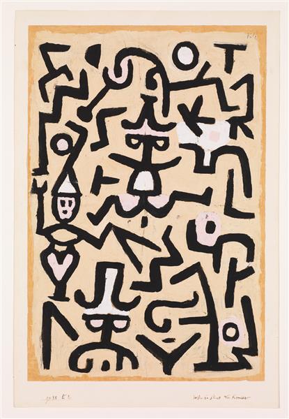 Comedians' Handbill - Paul Klee