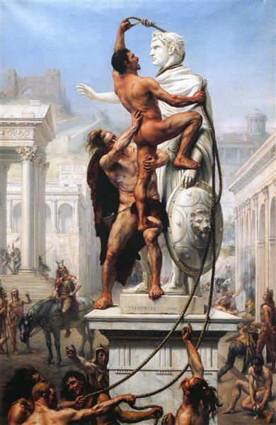 The Sack of Rome in 410 by the Vandals, 1890 - Joseph-Noël Sylvestre