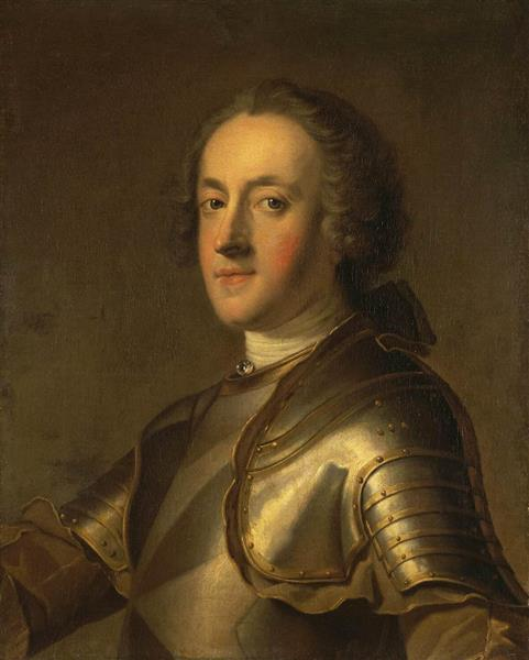 Portrait of Admiral D'Orvilliers, 1762 - Шарль Андре Ван Лоо
