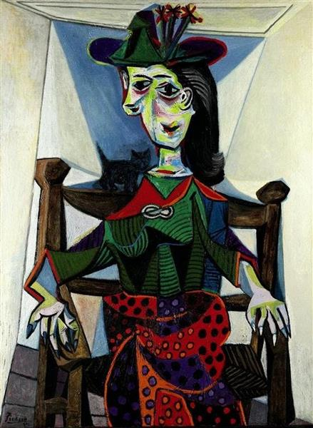 Dora Maar with Cat, 1941 - Pablo Picasso - WikiArt.org