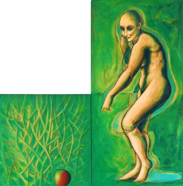 Venus and the Apple. Diptych, 2000 - Joan Tuset Suau
