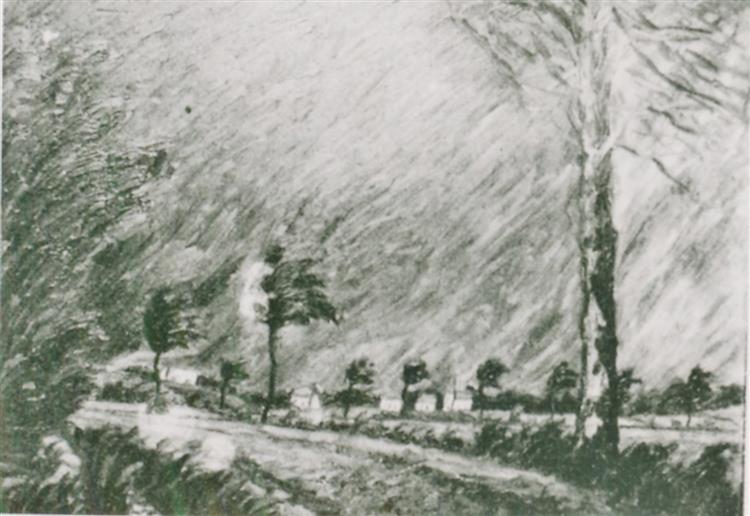 Storm (The Big Storm), 1916 - Walter Gramatté