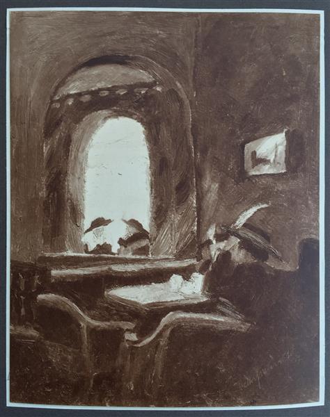 Café Josty, 1917 - Walter Gramatté