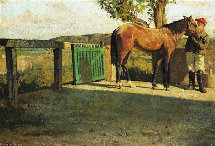 Horse in the Sunlight, 1866 - Giuseppe Abbati