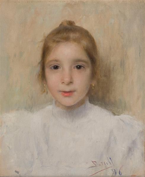 Retrat De La Nena Rosó Galià, 1896 - Жоан Бруль-и-Виньолес