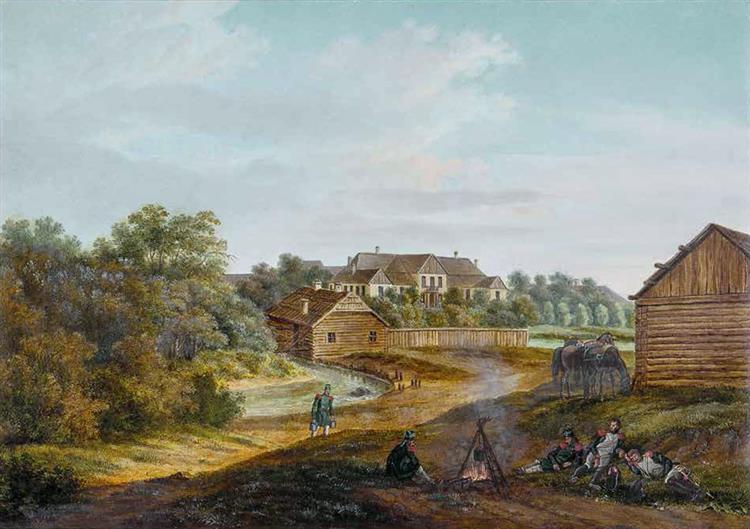 Zemłasłaŭ, Kianievič Manor, 1812 - Albrecht Adam