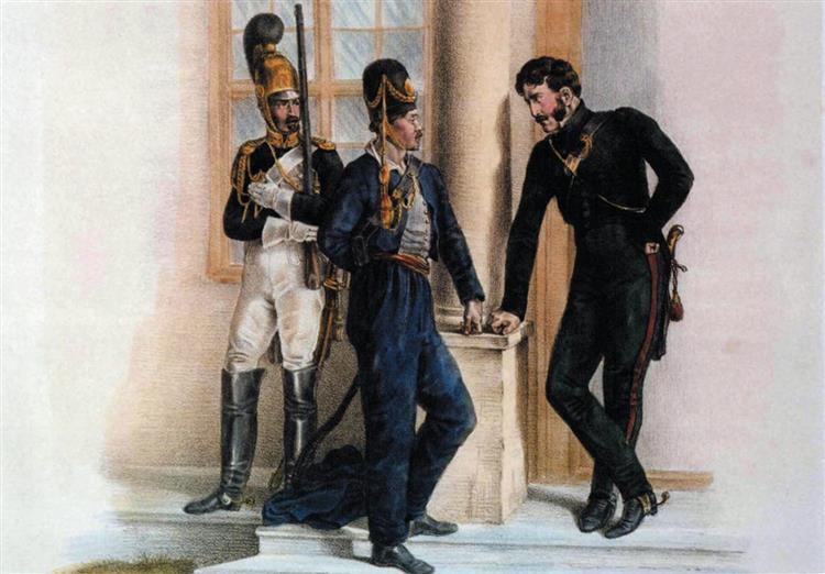 Kamień), Pakaš Manor. Captive Officer, 1812 - Oswald Achenbach